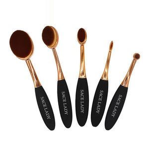 SACE LADY Make Up Brushes Set Beauty Professional Toothbrush Soft Makeup Foundation Brush Kit Face Eye Concealer Tool