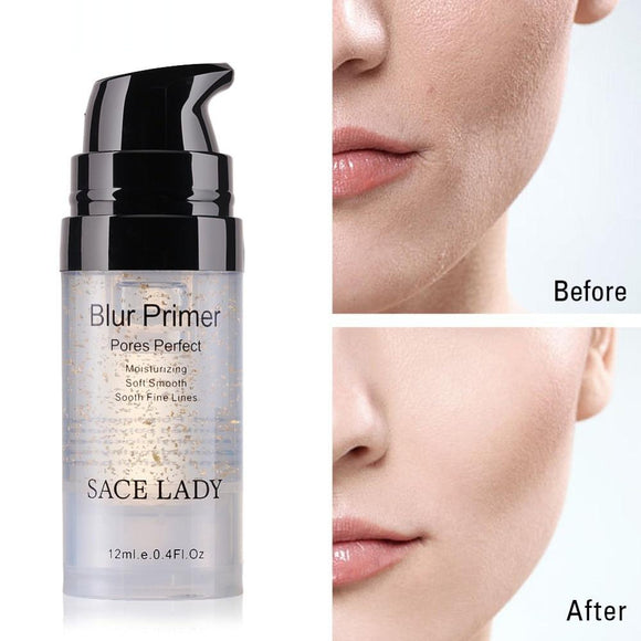 SACE LADY Primer Makeup Oil Control Matte Make Up Face Base Cream 24K Gold Professional Pores Foundation Primer Cosmetic