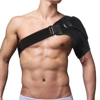 Shoulder Bandage Protector Brace Joint Pain Injury Support Strap Training Sports Equipment Adjustable Left/Right