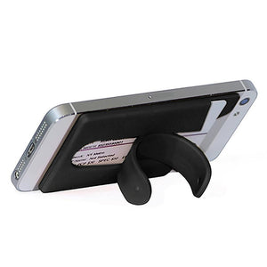 Silicone Wallet Mobile Smart Adhesive Sleeve Card Holder For Phone With Stand