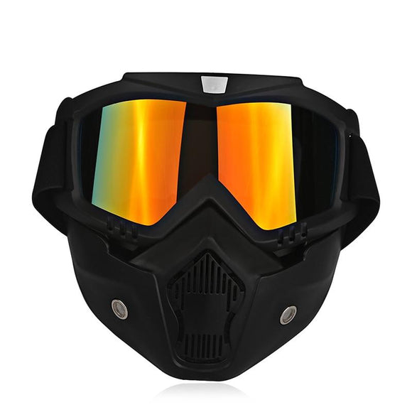 Ski Bike Motorcycle Face Mask Goggles Motorbike Motor Open Face Detachable Goggle Helmets Vintage Glasses Universal