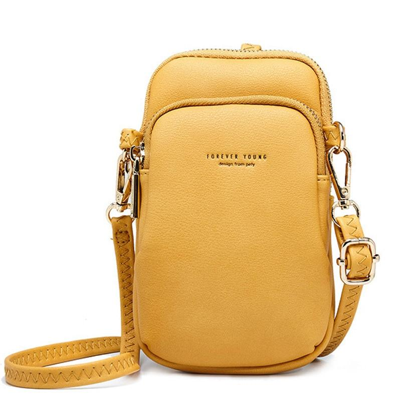 Small Shoulder & Chest Bag For Women Card Cell Phone Pocket Pu Leather Ladies Crossbody Bags Purse Female Messenger