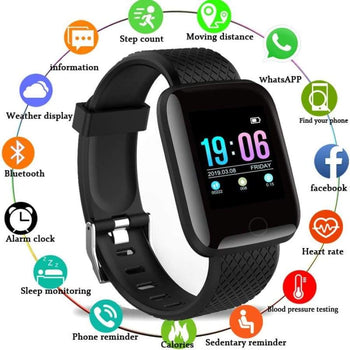 Smart Watch Men Blood Pressure Waterproof Smartwatch Women Heart Rate Monitor Fitness Tracker Gps Sport For Android Ios