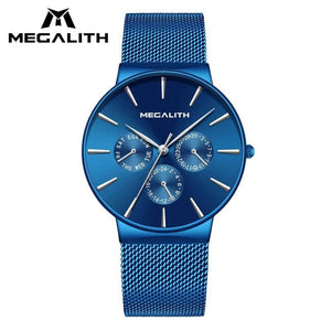 Stainless Steel Men's Megalith Man's Quartz Wristwatch Waterproof Sport Watches For Men Casual Watch Clock Orologio Uomo