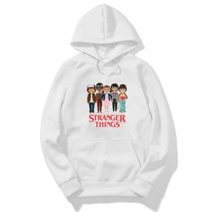 Stranger Things Printed Long Sleeve Pullover Hoodies