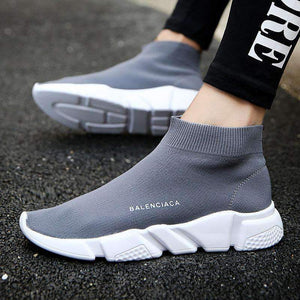 Summer Sport Athletic Running Shoe For Men Woman Unisex Breathable Mesh Female Sock Sneakers Outdoors Jogging Trainers Orange Gray Blue