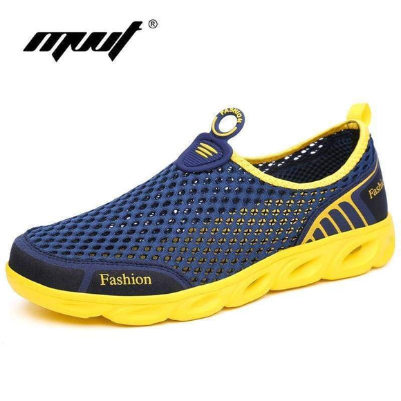 Super Light Summer Shoes Men Breathable Mesh Casual Comfort Flats Quality Outdoor Walking gary 5.5