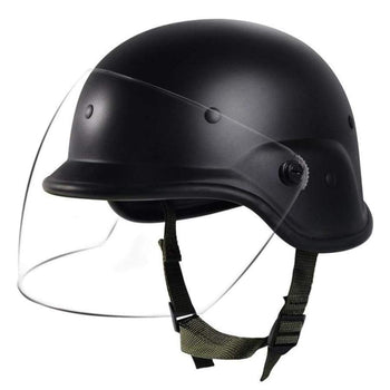 Tactical Military Airsoft M88 Pasgt Kevlar Helmet With Clear Visor Personnel Armor System For Ground Troops Combat Swat