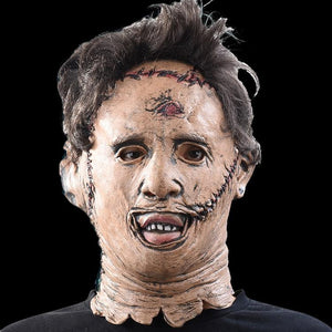 The Texas Chainsaw Massacre Leatherface Masks Scary Movie Cosplay Halloween Costume Props Toys Party Latex Mask