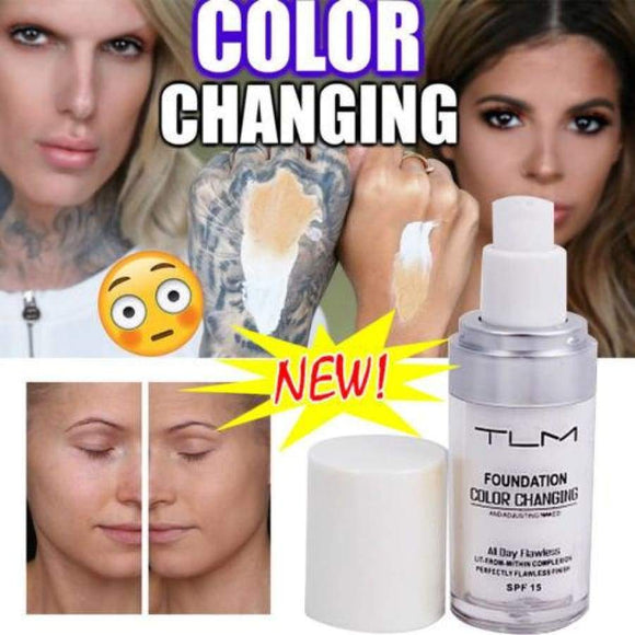 Tlm Foundation Color Changing Liquid Makeup Change To Your Skin Tone By Just Blending 30Ml