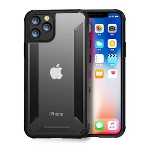 TPU + PC Matte Transparent Anti Shock Case Cover for iPhone 11/11 Pro/11 Pro Max