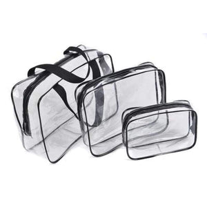 Transparent Pvc Bags Travel Organizer Clear Makeup Bag Beautician Cosmetic Beauty Case Toiletry Make Up Pouch Wash