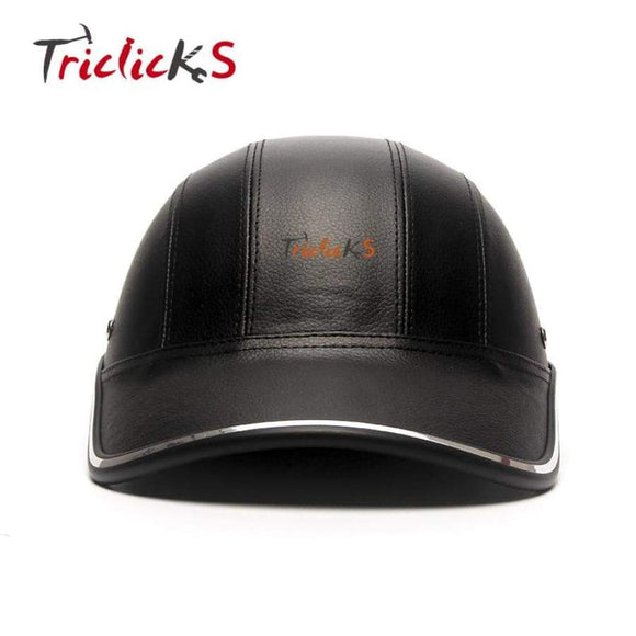 Tri Clicks Motorcycle Bike Scooter Half Helmet Baseball Cap Style Safety Hard Hat Open Face Man Helmets Protection Shell New