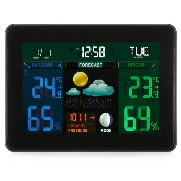 TS - 71 Digital Weather Station Temperature with 2 Sensor (BLACK EU PLUG)