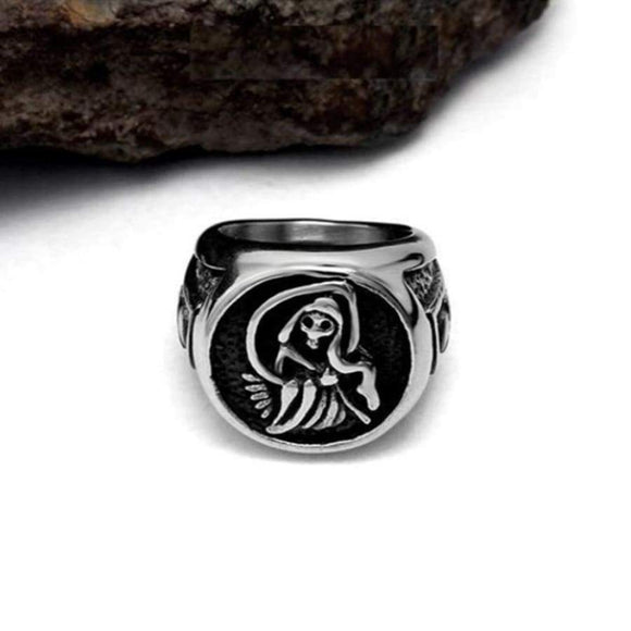 Tv Sons Of Anarchy Rings Silver Harley Motorcycle Mens Rock Punk Cosplay Costume Grim Reaper Man Soa Hip Hop Woman Ring Finger