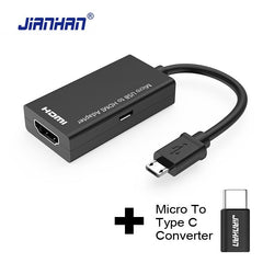 Type C Micro Usb To Hdmi Adapter Mhl Converter For Tv Monitor 1080P Hd Audio Video Cable Samsung Huawei Xiaomi - Xodeys.com