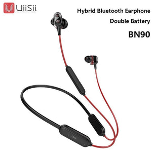 UiiSii BN90 Wireless Headphone Bluetooth HIFI Hybrid In-Ear Earphone IPX5 Waterproof Dual Battery BT4.1 For Mi Huawei phone
