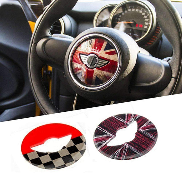 Union Jack Steering Wheel Center Sticker Decal Decoration For Bmw Mini Cooper Jcw F54 F55 F56 F60 Countryman Car Styling Gold