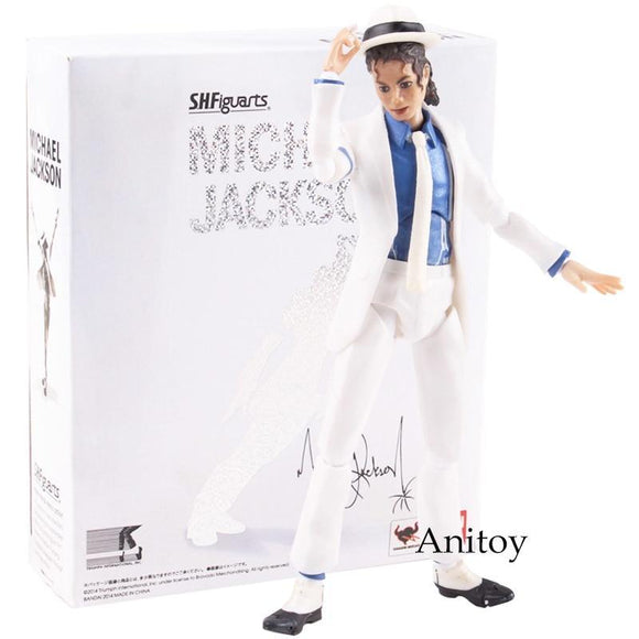 Unisex Shf S.H.Figuarts King Of Pop Mj Michael Jackson Moonwalk Pvc Action Figure Collectible Model Toy