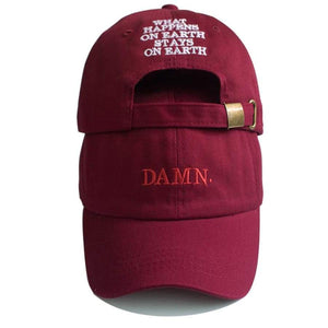 Unisex Spring Summer Damn Hats Embroidered Earth Dad Hat Hip Hop Cap Kendrick Lamar Rapper Snapback Baseball