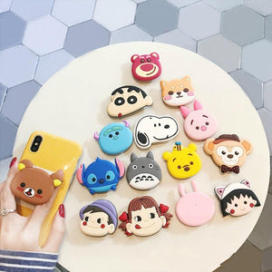 Universal Mobile Phone Holder Stand Phone Gasbag Bracket Expanding Finger Cartoon Sakura Momoko Stitch for xiaomi redmi note 6 7