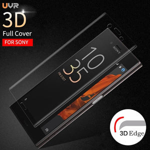 Uvr 3D Curved Full Cover Screen Protector Tempered Glass Film For Sony Xperia Xz1 Xz2 Compact X Xa Ultra Xa1 Plus Xz Premium