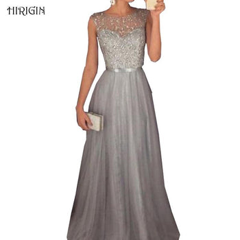 Verano Women Lace Formal Dama De Honor Boda Prom-Gown Long Dress Sequined Fiesta Patchwork