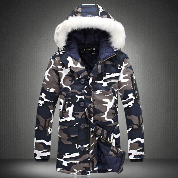 Winter Jacket Men Camouflage Army Thick Warm Coat Men's Parka Coat Male Hooded Parkas Men M-4XL Plus Size