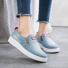 Women Flats Comfort Shoes Loafers Canvas Platform Ladies Casual Sneakers - Xodeys.com
