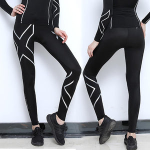 Women's Compression Pants Women 2Xu Autumn Winter Running Tights Trousers Fitness Elastic Marathon Jogging Quick-Drying Pant