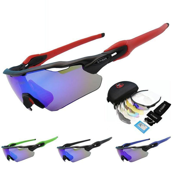 X Tiger 25G Ultralight 5 Lens Polarized Cycling Sunglasses Mtb Bicycle Eyewear Glasses Mountain Racing Bike Goggles