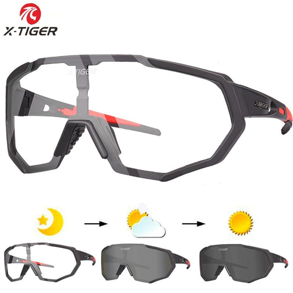 X Tiger Photochromic Polarized Cycling Glasses Outdoor Sports Mtb Bicycle Bike Sunglasses Goggles Eyewear Myopia Frame