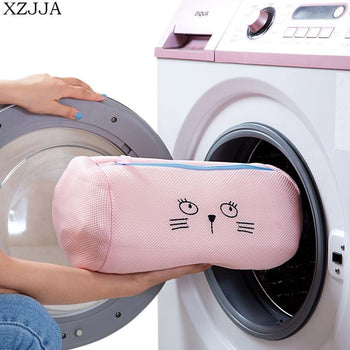 Xzj Creative Cartoon Laundry Bags Bra Underwear Baskets Mesh Bag Washing Care Pouch Household Cleaning Kits