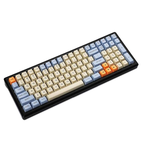 YMDK 96 84 Laser Etched ANSI ISO OEM Profile Thick PBT Keycap For MX Mechanical Keyboard YMD96 RS96 YMD75 KBD75 FC980M
