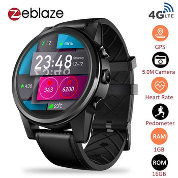 Zeblaze Thor 4 Pro 4G Lte Smart Watch Phone Android 7.1.1 Quad Core 16Gb & 1Gb 5Mp Camera 1.6