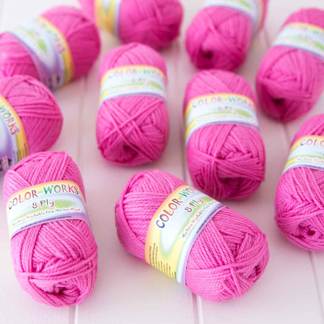 Color Works Yarn (Rose)