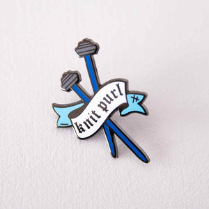 Knit Purl Enamel Pin