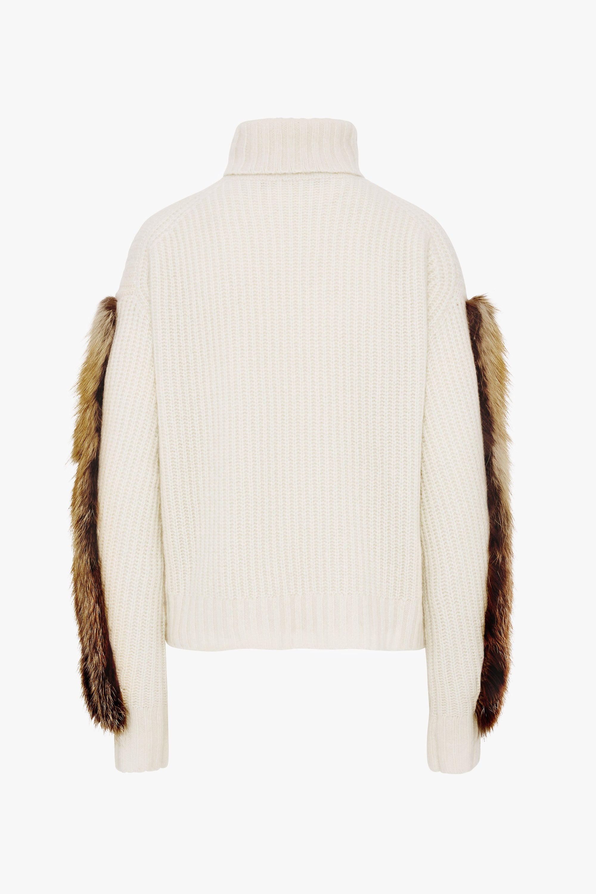 TURTLENECK SWEATER WITH FOX FUR