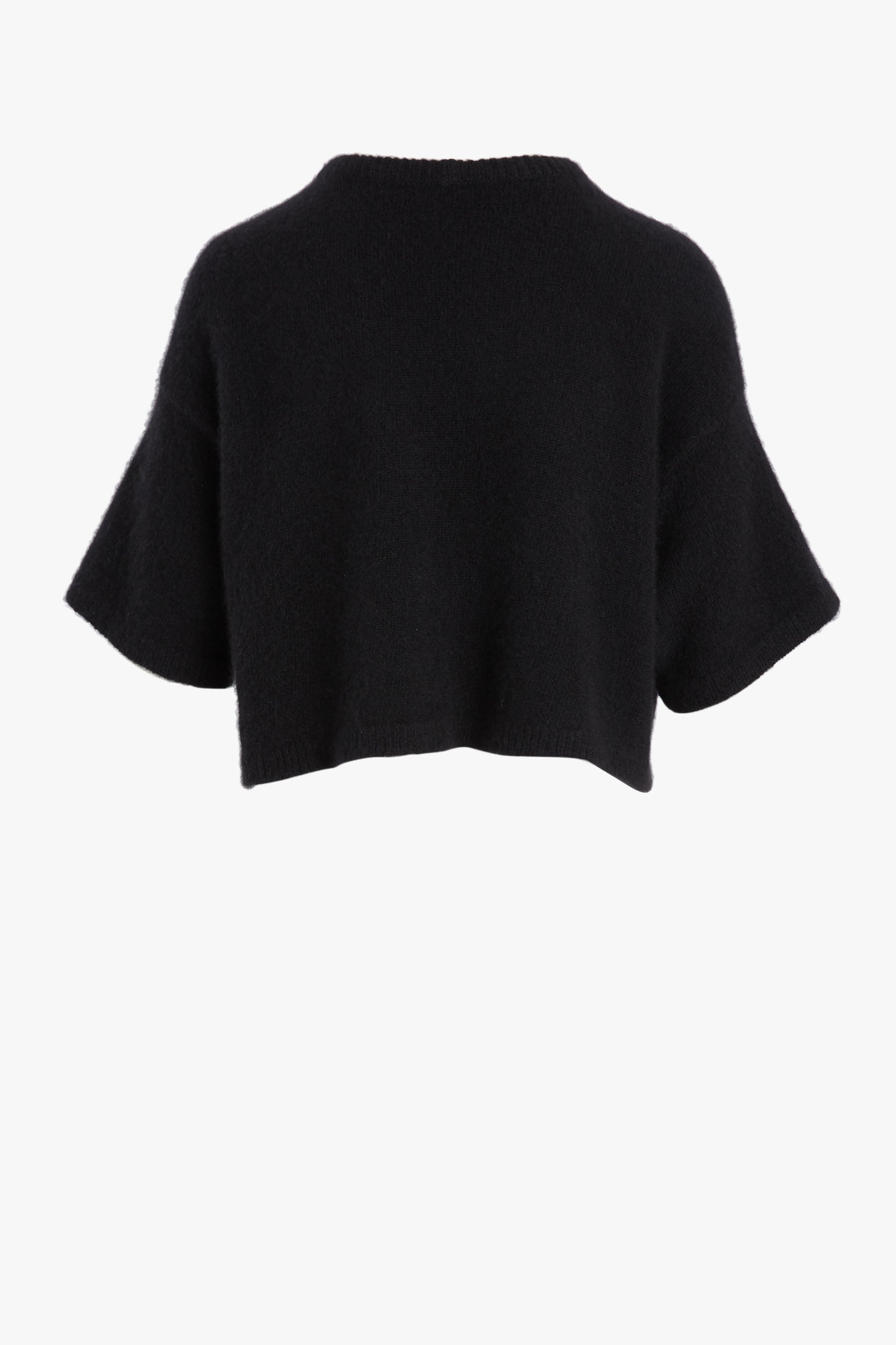 CROPPED CASHMERE T-SHIRT