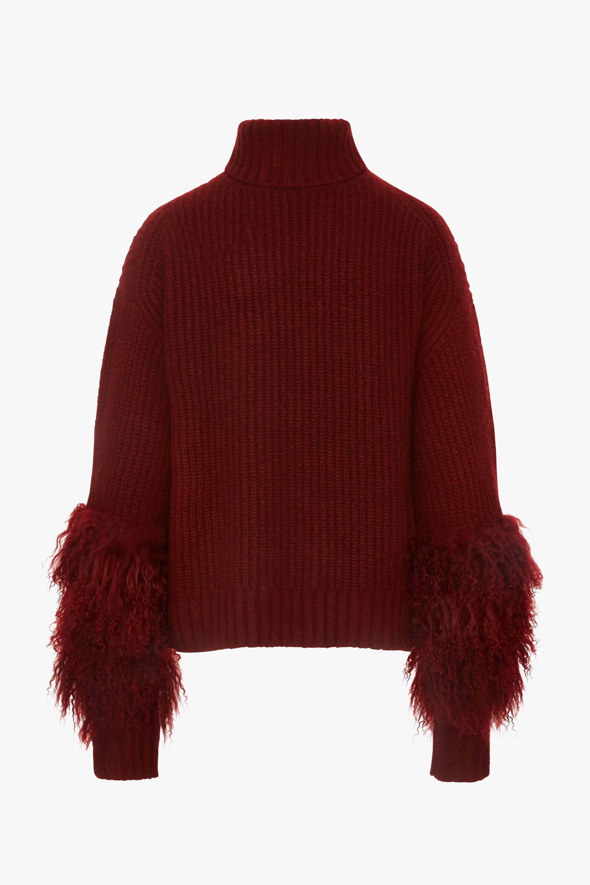 TURTLENECK SWEATER WITH SHEARLING