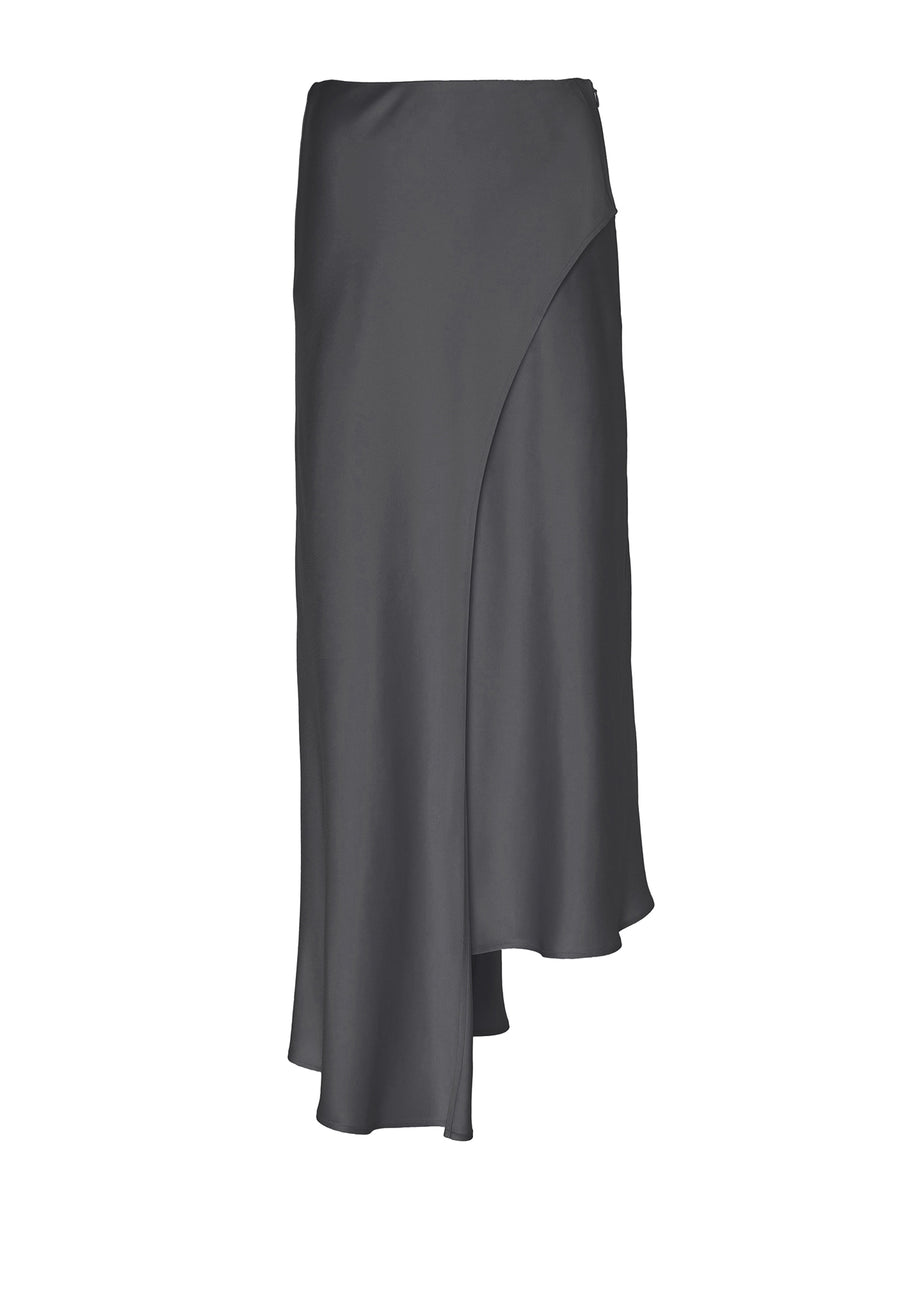 Product 4884766097494, SATIN ASYMMETRICAL SKIRT