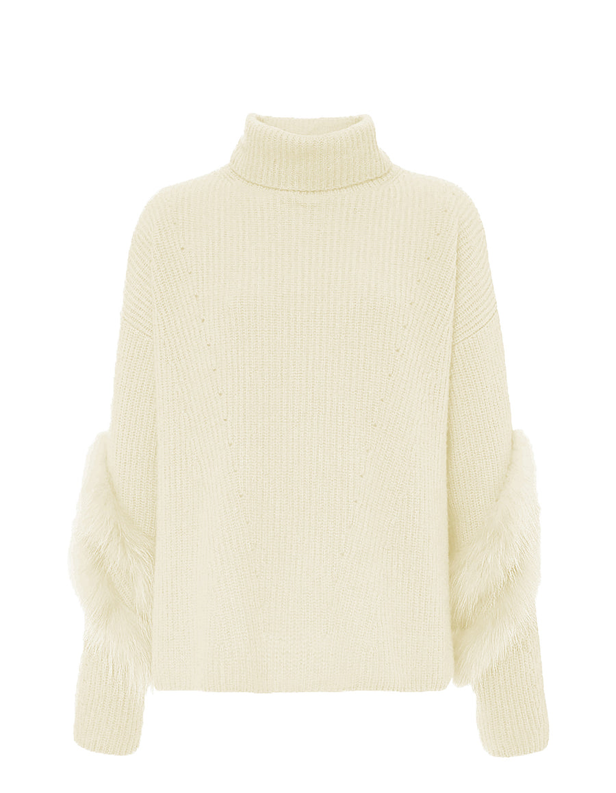 Product 4884774453334, CASHMERE FUR TURTLENECK
