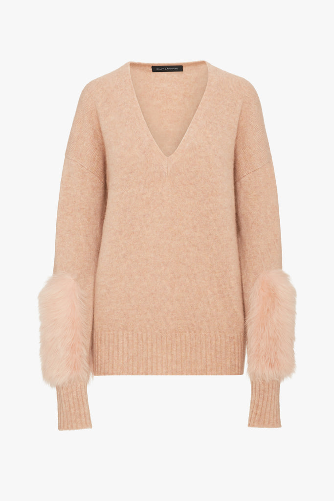 SWEATER WITH SHEARLING