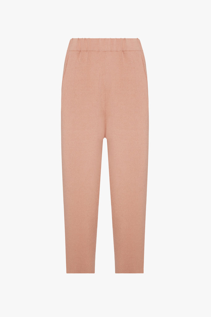 CASHMERE RIBBED CULOTTE
