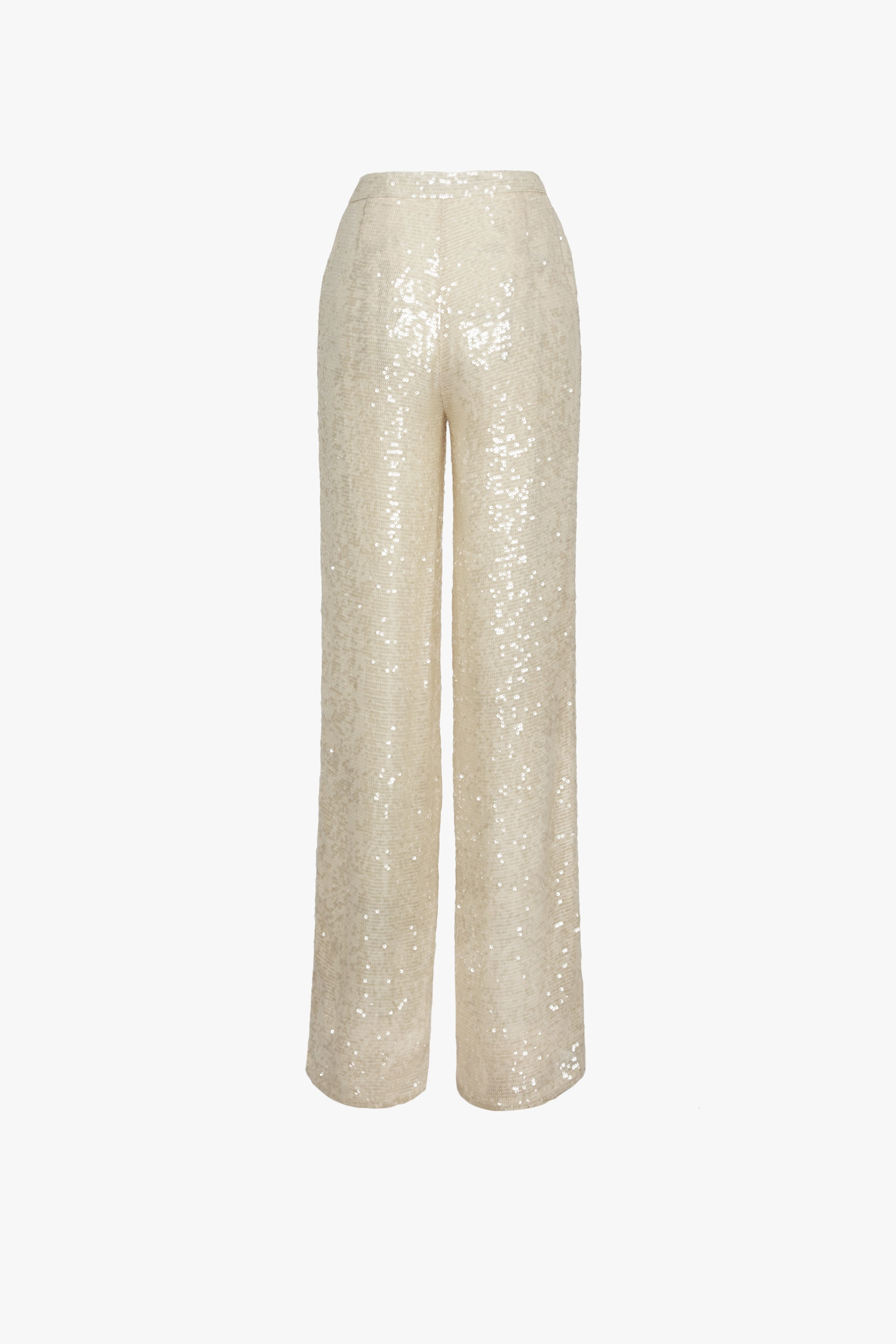 SEQUIN VISCOSE HIGH WAISTED TROUSER