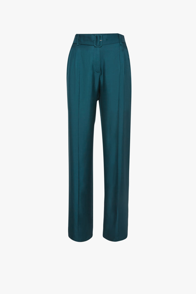 PINTUCK BELTED PANT