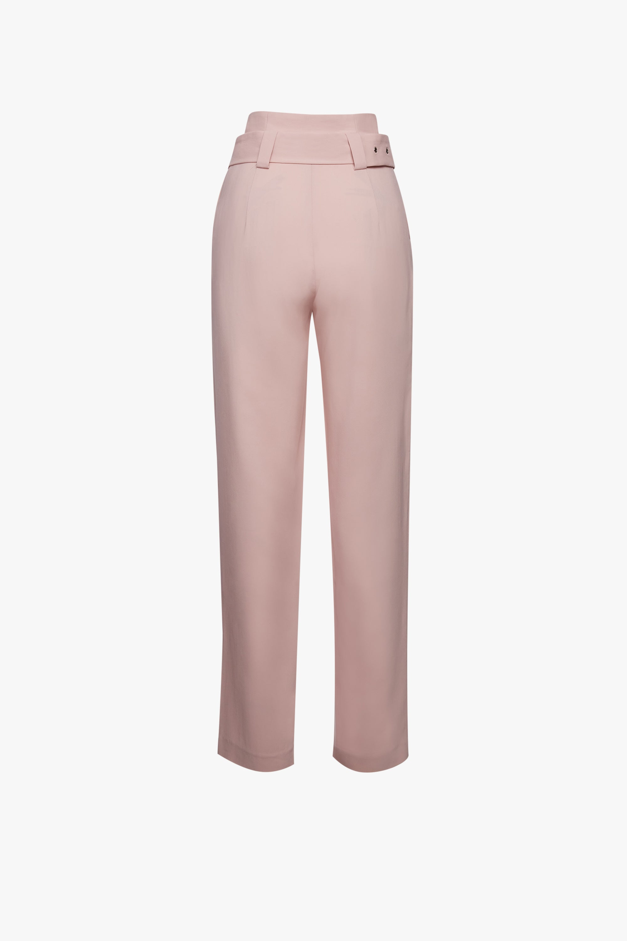 STRETCH VISCOSE CORSETED HIGH WAISTED PANT