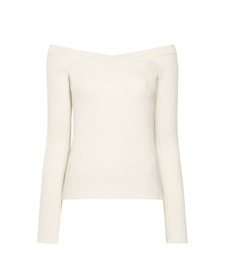 Product 4980378402902, CASHMERE OFF SHOULDER SWEATER - LAPOINTE
