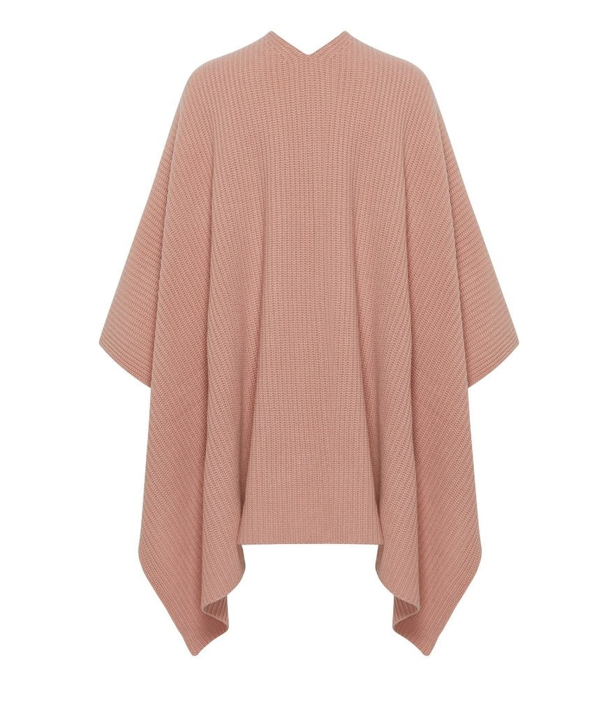Product 4981516795990, CASHMERE RIBBED CAPE - LAPOINTE