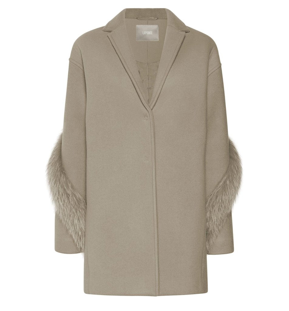 Product 4977462116438, CASHMERE WOOL FUR BOXY COAT - LAPOINTE